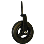 Bass Wheel, solid rubber tire, 1/2