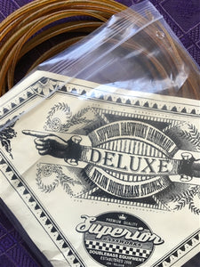 Superior Bassworks 'Deluxe' bass strings, set of 6, gut color - Quantum Bass Market