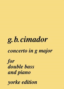 Cimador, G. - Concerto in G for double bass - Quantum Bass Market