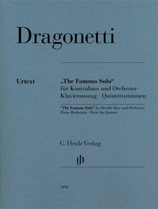 Dragonetti, D. - The 'Famous Solo' for Double Bass and Orchestra - Quantum Bass Market