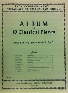Album of 10 Classical Pieces for String Bass and Piano - Quantum Bass Market