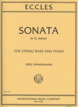 Load image into Gallery viewer, Eccles, H. - Sonata in G Minor for String Bass and Piano - Quantum Bass Market