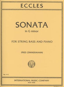 Eccles, H. - Sonata in G Minor for String Bass and Piano - Quantum Bass Market