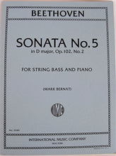 Load image into Gallery viewer, Beethoven - Sonata No. 5 in D for String Bass and Piano - Quantum Bass Market