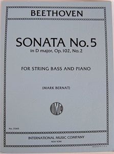 Beethoven - Sonata No. 5 in D for String Bass and Piano - Quantum Bass Market
