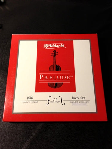 D'Addario Prelude Upright Double Bass String Set, 1/2 Size - Quantum Bass Market