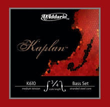 Load image into Gallery viewer, Strings, bass, D'Addario Kaplan, medium, set - Quantum Bass Market