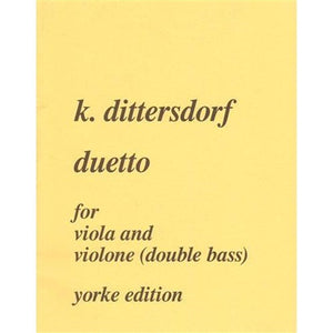 Dittersdorf, K.D. von - Duetto for viola and double bass - Quantum Bass Market