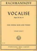 Load image into Gallery viewer, Rachmaninoff, S. - Vocalise - for String Bass and Piano - Quantum Bass Market