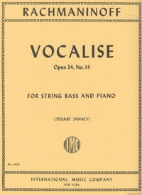 Rachmaninoff, S. - Vocalise - for String Bass and Piano - Quantum Bass Market