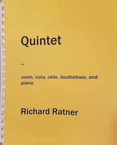 Richard Ratner - Quintet for Violin, Viola, Cello, Doublebass and Piano - Quantum Bass Market
