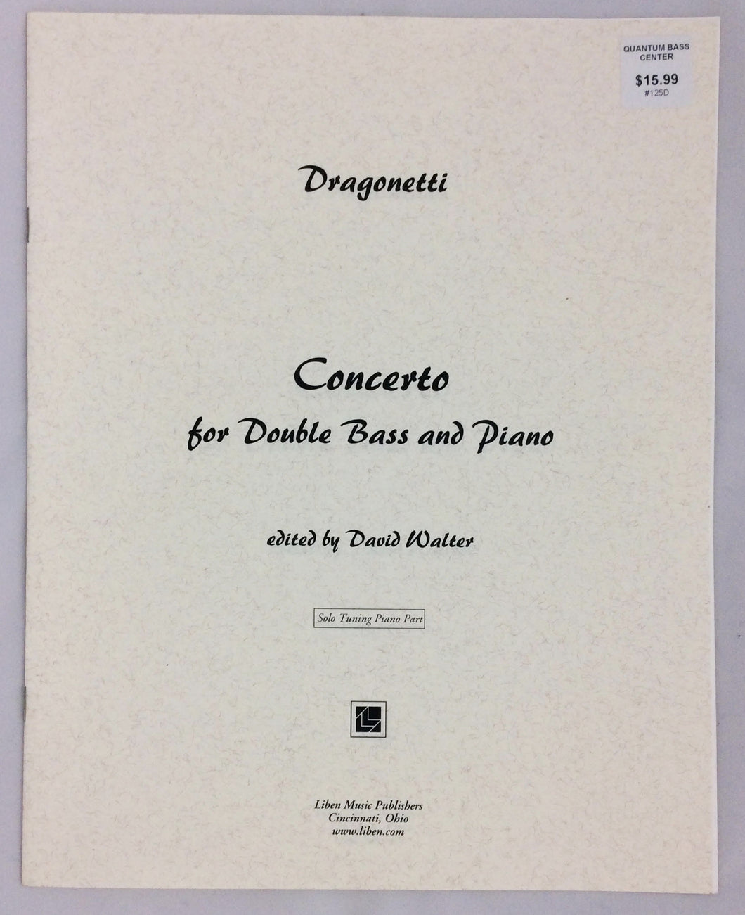 Dragonetti, D. - Concerto - Solo Tuning Piano Part