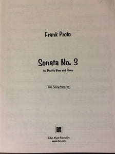 Proto, F. - Sonata No. 3, Solo Tuning Piano Part - Quantum Bass Market