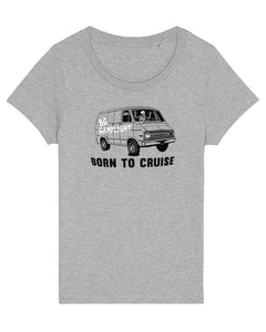 Born To Cruise Women's T-shirt (Grey)
