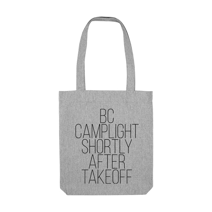 'Shortly After Takeoff' Tote Bag (grey or natural)