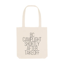 Load image into Gallery viewer, 'Shortly After Takeoff' Tote Bag (grey or natural)