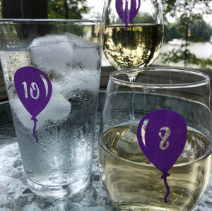 Reusable Balloon Drink Labels (Set of 12)