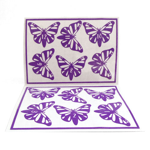 Reusable Butterfly Drink Labels (Set of 12)