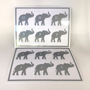 Reusable Elephant Drink Labels (Set of 12)