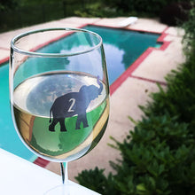 Load image into Gallery viewer, Reusable Elephant Drink Labels (Set of 12)