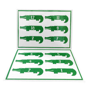 Reusable Gator Drink Labels (Set of 12)