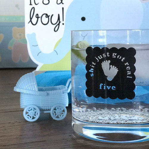 Reusable Oh Sh*t Baby Feet Drink Labels (Set of 12)