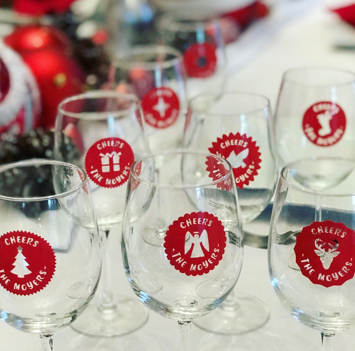 Personalized Fancy Holiday Drink Labels (Set of 12)