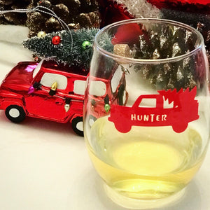 Personalized Tree Truck Drink Labels (Set of 12)