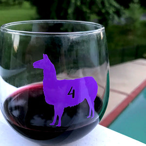 Reusable Llama Drink Labels (Set of 12)
