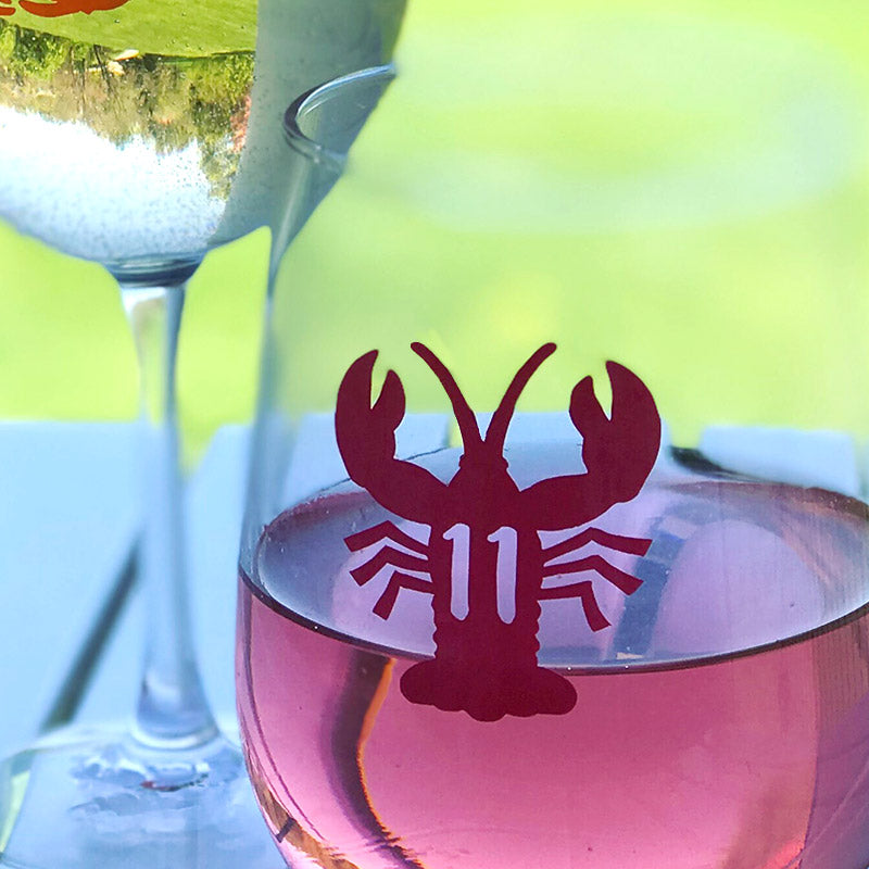 Reusable Lobster Drink Labels (Set of 12)