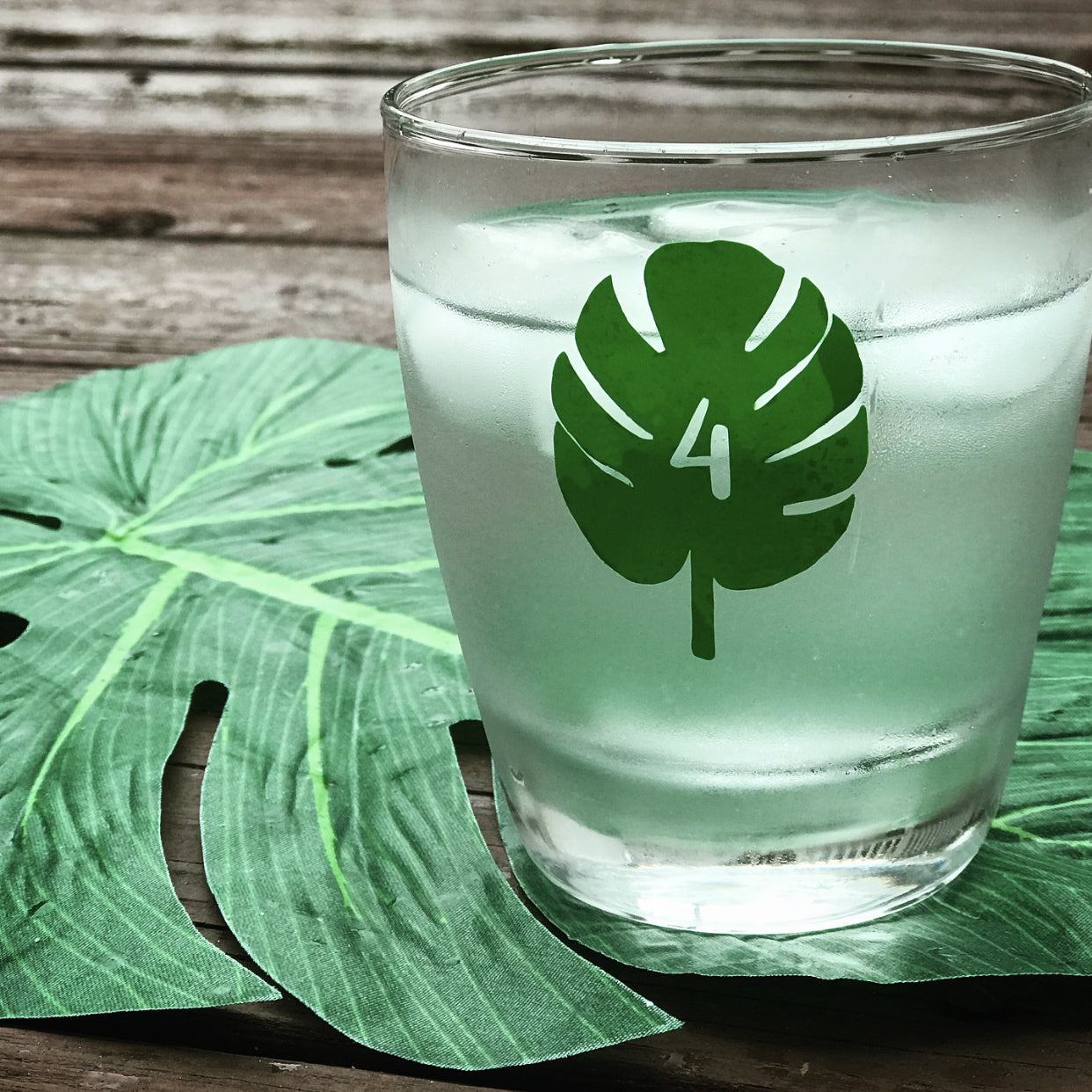 Reusable Palm Leaf Drink Labels (Set of 12)