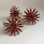 Red Poinsettia Napkin Rings (Set of 6)