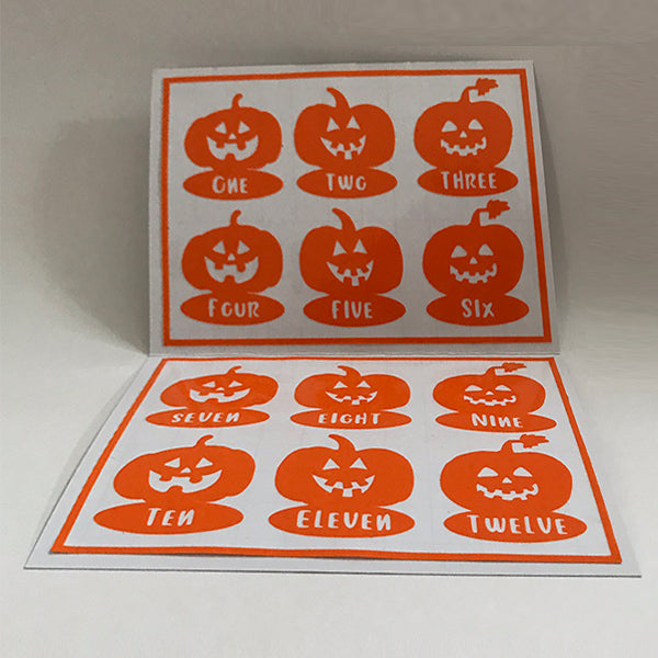 Reusable Pumpkin Drink Labels (Set of 12)