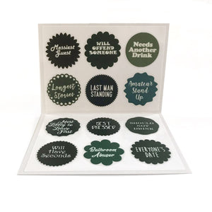 Reusable Saucy Party Awards Drink Labels (Set of 12)