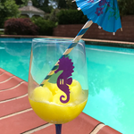 Reusable Seahorse Drink Labels (Set of 12)