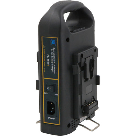 Fxlion Dual-Channel V-Mount Battery Charger with DC Output for HD Camera