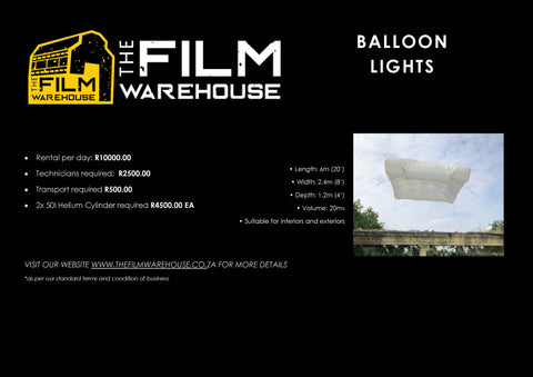 Balloon Cloud 6m x 2.4m x 1.2m  Rental per Day