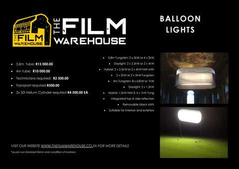 Balloon Light Tube 5.8m Rental per Day