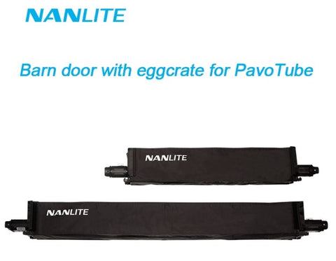 Pavolite 4ft Barn Door with eggcrate for Pavolite Tube