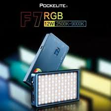 Pockelite F7 RGB 12W 2500K-9000K LED