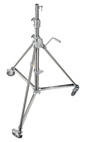 Avenger Super Wind-Up 40 Stand with Bracked wheels ( Stainless)