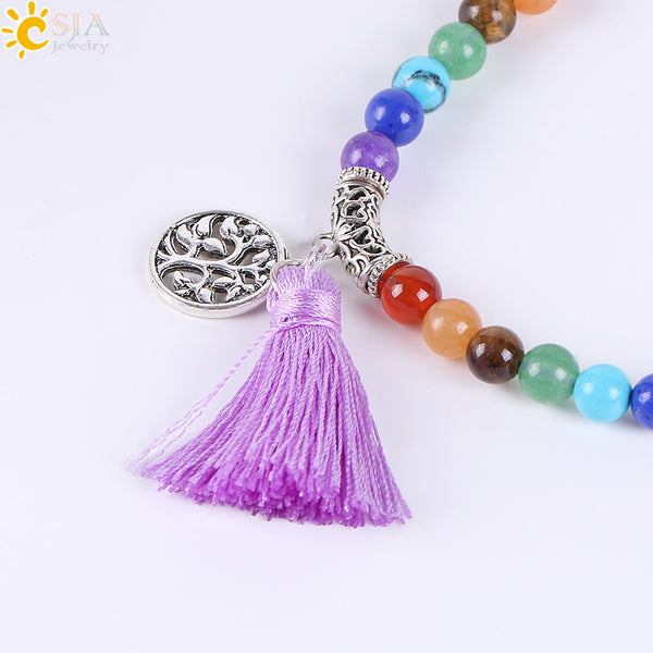 7 Chakra Multi-layer Meditation Healing Tassel
