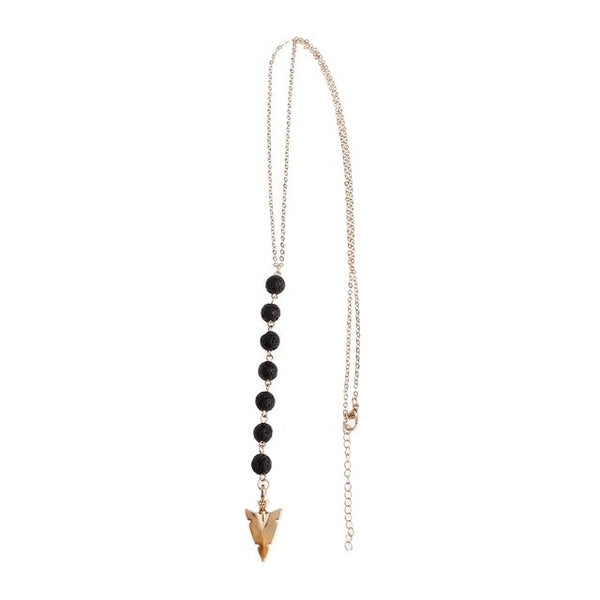 The Lava Stone Arrow Necklace