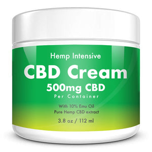 CBD Cream - Isolate 500mg With 10% Emu Oil