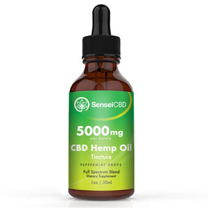CBD Oil Tincture - Full Spectrum 5000mg (Peppermint)