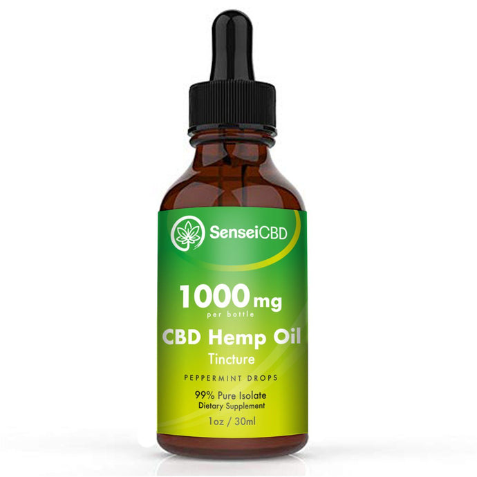 CBD Oil Tincture - Isolate 1000mg (Peppermint)