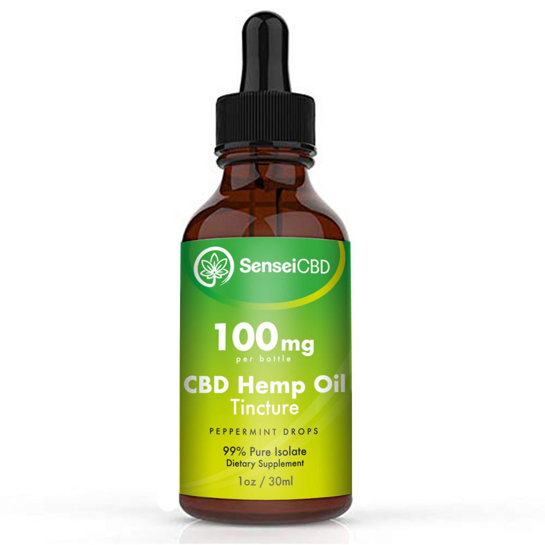 CBD Oil Tincture - Isolate 100mg (Peppermint)