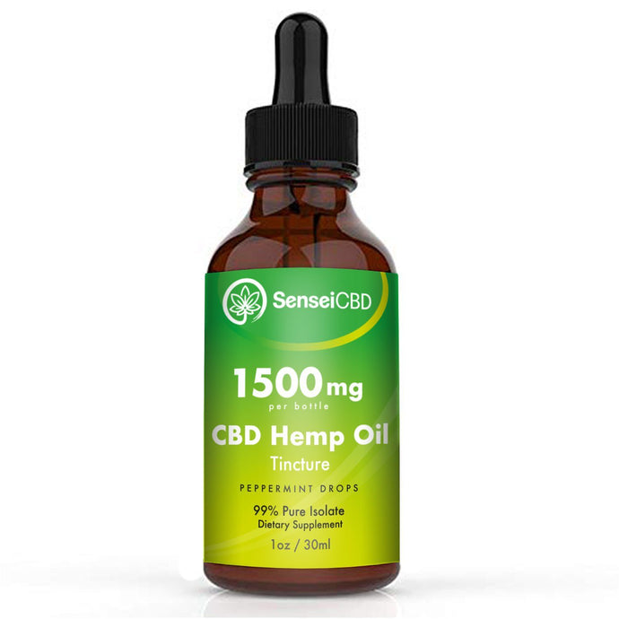 CBD Oil Tincture - Isolate 1500mg (Peppermint)