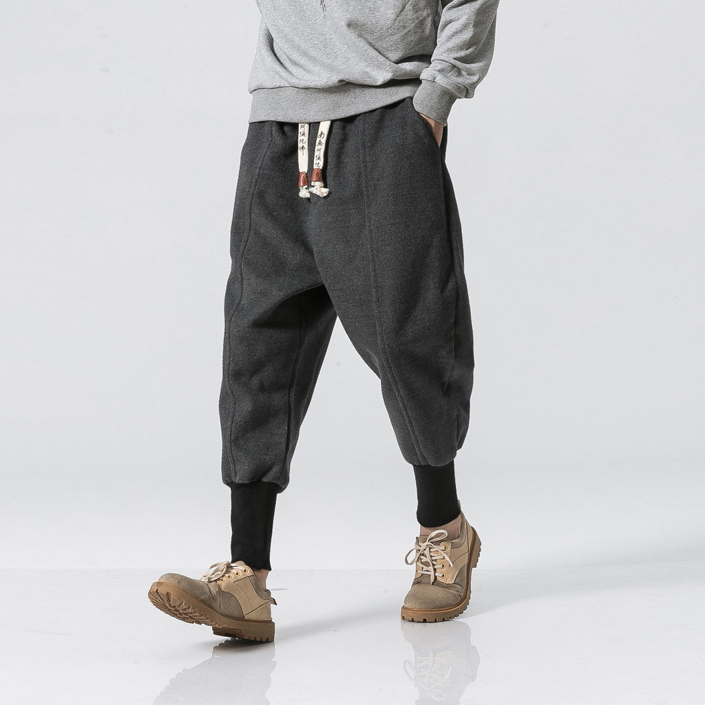 Harajuku Ankle Banded Thick Joggers