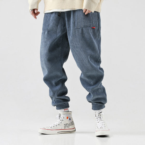 Men's thick corduroy loose feet pants